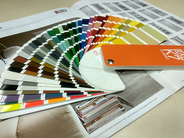 RAL - каталог цветов эмали для крашенных дверей